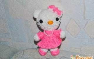 Вязание китти крючком. Hello Kitty в технике Амигуруми: схема вязания самой игрушки и наряда для неё. О технике вязания игрушек амигуруми