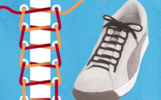 Завязать шнурки на обуви. Виды шнуровки кроссовок. Пошаговые инструкции на фото и видео