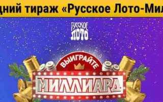 Розыгрыш тиража 1180. История лотереи Русское лото