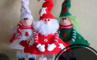 Вязаный дед мороз на бутылку шампанского крючком. Новогодняя одежда для бутылки Дед Мороз и Снегурочка от Надежды Максимовой (Конкурсная работа). Учимся — бесплатно