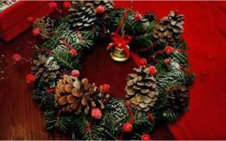 Как сделать новогодний венок из искусственной елки. Новогодний венок — сказка своими руками! Фото-идеи и мастер-классы. Венок из салфеток