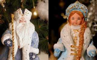 Дед мороз и снегурочка своими руками схемы. Мастер-класс «Как быстро сделать Деда Мороза и Снегурочку на основе традиционной куклы. Дед Мороз из соленого теста