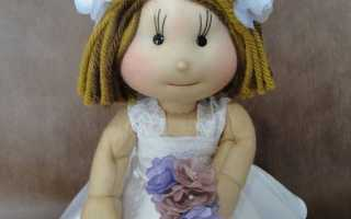 Как сделать кукол из капроновых колготок. Кукла из чулка: мастер-класс по изготовлению куклы из чулка на бутылке (с пошаговыми фотографиями и видео), куклы на каркасной основе