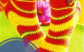 Схемы вязания крючком ажурных носков для детей. Вязание носков крючком. Идеи для мужчин