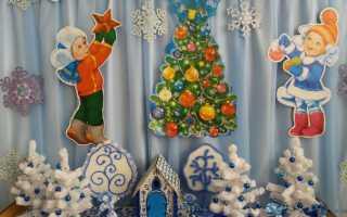 Новогоднее оформление в детском саду. Новогоднее оформление группы в детском саду своими руками из бумаги пошагово с фото. Как украсить окна на новогодние праздники