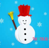 Новогодняя открытка со снеговиком своими руками: пошаговая инструкция. Детская новогодняя открытка снеговик своими руками Новогодняя открытка снеговик своими руками для детей