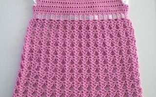 Нарядное белое платье крючком для девочки. Платье крючком для девочки со схемами и описанием работы (крестильные и другие ажурные модели). Вяжем ажурное детское платье крючком