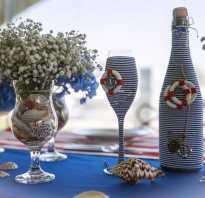 Декупаж бутылок разными материалами. Декор бутылок: декупаж, покраска, мастер-класс (фото). Как сделать декупаж бутылки для начинающих: пошагово с фото и подробной инструкцией