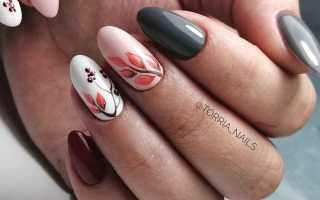 Идеи осеннего маникюра на короткие и длинные ногти. Осенний маникюр: дизайн ногтей с кленовым листом. Идеи осеннего маникюра на короткие и длинные ногти Рисуем осенний маникюр