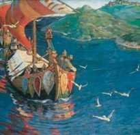 Когда рерих нарисовал картину заморские гости. Сочинение по картине «Заморские гости