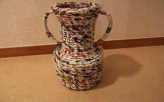 Плетение из газетных трубочек вазы для начинающих. Как сделать красивую напольную вазу из газетных трубочек? Делаем вазу для цветов из газетных трубочек: мастер-класс