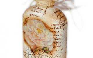 Декупаж бутылки в винтажном стиле от Agnieszka Radtke (Ayadeco). Декупаж бутылки в винтажном стиле от Agnieszka Radtke Винтажные бутылочки