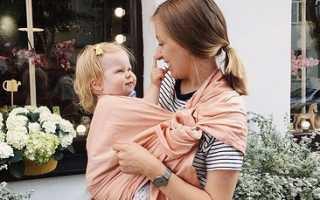 Как завязать слинг шарф для новорожденных. Как завязывать слинг-шарф: основные способы