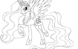 Уроки рисования. Как нарисовать принцессу Селестию