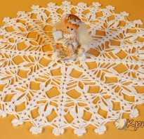 Салфетки со схемой крючком нитки снежинка. Салфетка-подсвечник в виде снежинки, вязаная крючком. Как связать прихватку в форме снежинки
