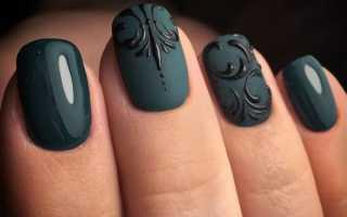 Маникюр двумя цветами и вензелями. Вензеля на ногтях: красивые дизайны (фото пошагово)