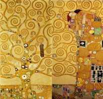 Картина древо жизни густава климта значение. Репродукция картины Климт Густав — «Ожидание — Древо жизни — Свершение