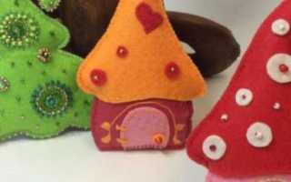 Изготовление новогодних игрушек из фетра пошаговая инструкция. Мастер-классы по изготовлению интересных новогодних игрушек из фетра. Как сделать снеговика из фетра