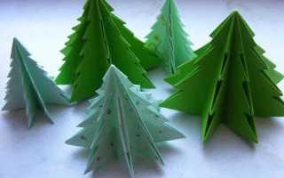 Как сделать елку не из бумаги. Большие интерьерные елки. Красивая новогодняя елка-оригами из бумаги