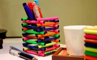 Виды подставок для карандашей. Карандашница своими руками: как сделать быстро и красиво удобный органайзер для письменных принадлежностей (85 фото). Диски из пробкового дерева
