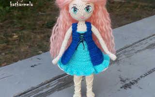 Красивая кукла крючком схема описание. Подборка: куклы спицами. Вязание туловища куклы