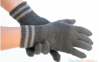 Как связать перчатки спицами. Мастер-класс для начинающих. Перчатки с рельефным узором