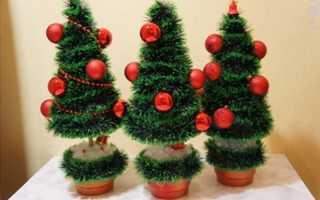 Топиарии к новому году своими руками. Стильный подарок и элемент декора на Новый год своими руками: мастер-классы новогодних топиариев. Топиарий елочка на Новый год – дизайн