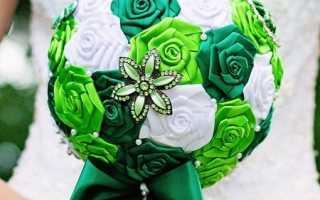 Свадебный букет своими руками. Как сделать букет невесты из атласных лент? Свадебный букет из роз, пионов, тюльпанов. Свадебный букет своими руками — шедевр из живых цветов