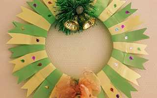 Рождественский венок своими руками из бумаги. Новогодний венок — сказка своими руками! Фото-идеи и мастер-классы. Новогодний венок своими руками из вешалки. Пошаговая инструкция