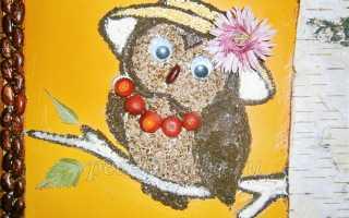 Аппликация из круп и семян для школьников. Как создавать различные поделки из семечек и разных круп
