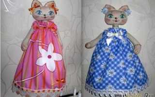 Пакетницы для кухни своими руками. Как сделать (сшить) куклу-пакетницу: мастер класс для начинающих с фотографиями и подробным описанием. Пошив аксессуаров для куклы-пакетницы