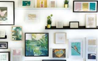 Как вешать картины на стену на веревке. Как повесить картину на стену без сверления, шума и пыли