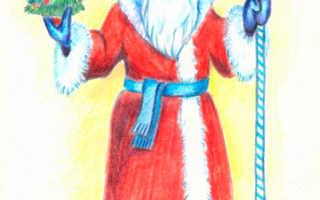 Рисуем новогодних персонажей. Инструкция, как нарисовать Деда Мороза карандашом своими руками