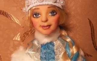 Дед Мороз из глины своими руками. Мастер-класс с пошаговыми фото. Овечка-Снегурочка из полимерной глины. Мастер-класс Как сделать красивую снегурочку из полимерной глины