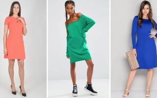 Что надеть с длинным трикотажным платьем. С чем можно носить длинное трикотажное платье