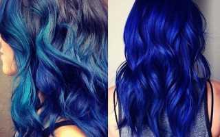 Синий цвет волос: правильная покраска и удаление оттенка. Всё о синей краске для волос