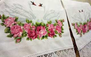Вышивание крестиком на вафельном полотенце для начинающих. Вышивка на полотенце: схемы, идеи, пошаговая инструкция выполнения. Красивая вышивка крестом на полотенце для кухни