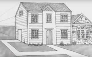 Дом у моря рисунок карандашом. Уроки рисования для детей: как нарисовать дом карандашом поэтапно