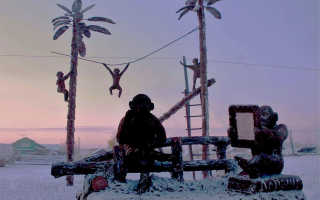 «Это шедевр!»: Огромный петух из навоза сразил жителей Бурятии. В якутии к новому году слепили из навоза огромного петуха