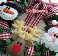 Рождественский венок из фетра с игрушками. Декоративный осенний венок из фетра своими руками. Мастер-класс с пошаговым фото Новогодний венок на дверь из фетра