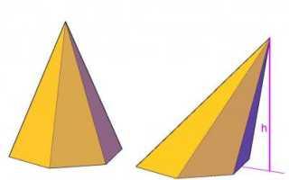 Объем правильной шестиугольной пирамиды 6 сторона основания. Развертка пирамиды