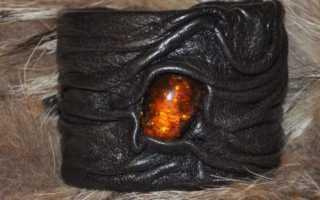 Браслеты из кожи для мужчин своими руками. Как сделать стильный женский кожаный браслет своими руками из ненужной кожи и янтаря. Браслеты из кожи на руку для мужчин