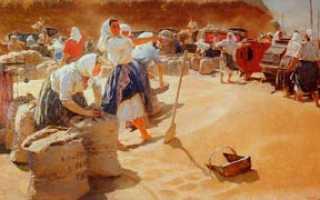 Что нарисовано на картине яблонской хлеб. Сочинение-описание картины Яблонской «Хлеб
