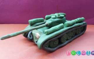 Как слепить двигатель танка из пластилина. Лепим танк из пластилина. Как слепить танк из пластилина