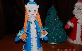 Из чего можно сделать голову для снегурочки. Дед мороз из бумаги и ватных дисков. Материалы для изготовления аппликации со Снегурочкой из ниток в садике своими руками